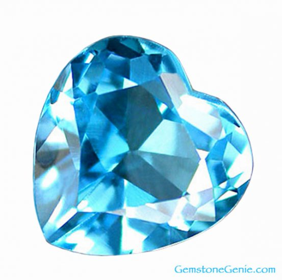 2.43 ct. Nearly Flawless (IF-VVS1) Topaz, Sky Blue, Heart Shaped Natural Gemstone