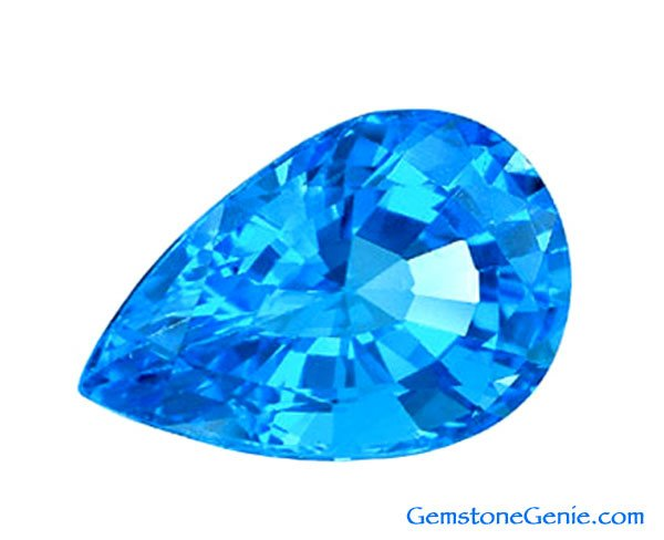 23.63 ct. Topaz, Swiss Blue, Pear Faceted, Brazilian Natural Gemstone