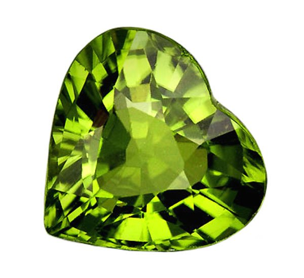 SOLD 1.26 ct. Peridot, VVS Green, Heart Shape Natural Gem