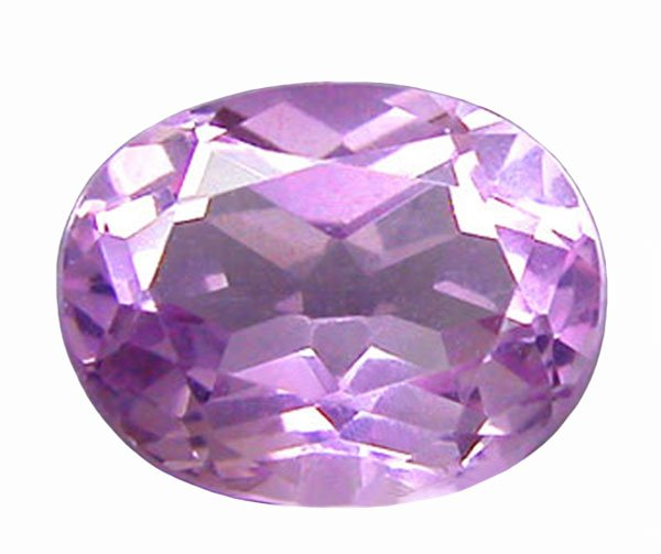 1.80 ct. Amethyst, Pinkish Violet Oval Faceted Gemstone