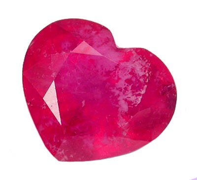 SOLD  1.63 ct. Ruby, Pinkish Red, Heart Shaped Natural Gemstone