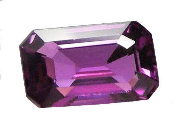 SOLD 0.38 ct. Sapphire, VVS, Rich Royal Purple, Emerald Facet, Ceylon