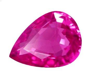0.73 ct. Sapphire, Intense Purplish Pink, VVS Pear (Tear Drop) Faceted Natural Gemstone, Ceylon
