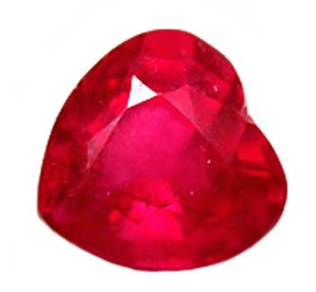 1.00 ct. Ruby, Glowing Rich Red, Heart Shaped/Faceted Natural Gemstone