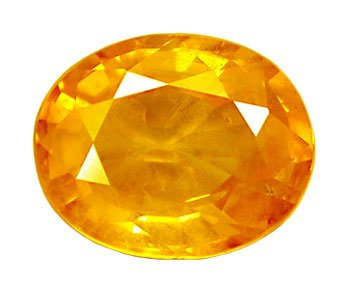 2.09 ct. Sapphire, Golden Yellow, VVS1 Oval Faceted Natural Gemstone, Ceylon