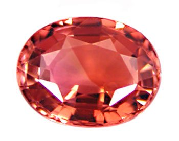 1.37 ct. Tourmaline, Pink Orange Padparadscha (Lotus Blossom), VVS Oval Faceted Gemstone