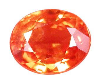 0.95 ct. Sapphire, Padparadscha Orange (Lotus Blossom), VVS2 Oval Faceted Gemstone