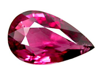 3.12 ct. Rhodolite Garnet, Pink Purple, IF-VVS Pear (Tear Drop) Faceted Gemstone
