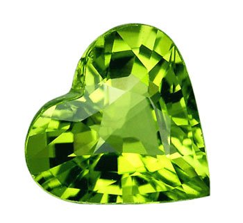 SOLD 1.21 ct. Peridot, Green , VVS Heart Shape Faceted Unheated Natural Gemstone