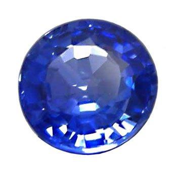 0.55 ct. Sapphire, Rich Cornflower Blue, VVS Round Faceted Natural Gemstone, Ceylon