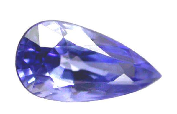 0.60 ct. Sapphire, Blue, IF-VVS1, Pear (Tear Drop), Unheated Natural Gemstone, Ceylon