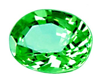 sold 1.11 ct. Tsavorite Garnet, Neon Green, Oval Faceted Gemstone