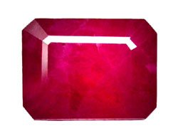 2.49 ct. Ruby, Rich Red, Octagon Facet Natural Gemstone