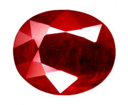 1.28 ct. Ruby, Pigeon Blood Red, Oval Facet Natural Gem