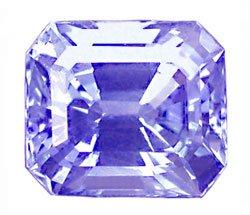 0.59 ct. Sapphire, Platinum Blue, IF-VVS Octagon Cut Gem, Ceylon