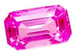 0.62 ct. Sapphire, Pink, VVS-VS Emerald Faceted Gemstone, Ceylon