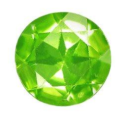 1.08 ct. Peridot, Green, VVS Round Rose Cut Natural Gem