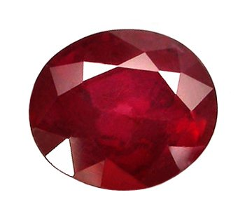 sold 0.99 ct. Ruby, Pigeon Blood Red, Oval Faceted Natural Gemstone