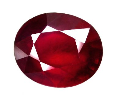 1.03 ct. Ruby, Pigeon Blood Red, Oval Facet Natural Gemstone