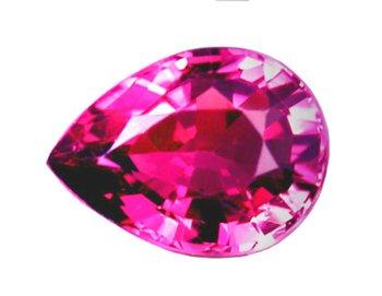 1.29 ct. Tourmaline, Pink, VVS Pear (Tear Drop) Faceted Natural Gem