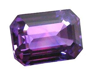 1.35 ct. Sapphire, Rich Royal Purple, VVS Emerald Faceted Natural Gemstone, Ceylon