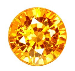 0.47 ct. Sapphire, Golden Yellow, Nearly Flawless Round Faceted Gemstone, Nigeria