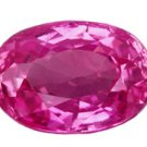 0.77 ct. Sapphire, Intense Purplish Pink, VVS1 Oval Faceted Gemstone