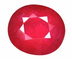 1.98 ct. Ruby, Pinkish Red, Oval Faceted Gemstone