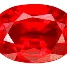 0.67 ct. Ruby, Rich Glowing Red, 6 x 4 mm VVS Oval Faceted Gemstone