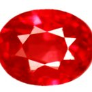 0.46 ct. Ruby, Rich Sparkling Red, IF-VVS1 Oval Faceted Gemstone SALE