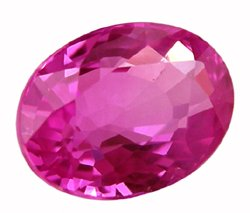 SOLD 1.07 ct. Sapphire, Intense Rich Royal Pink, VVS Oval Facet Gem, Ceylon