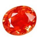 0.73 ct. Sapphire, Intense Orange Padparadscha, VVS-VS Oval Gem