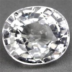 0.35 ct. Sapphire, White (Colorless), IF-VVS1 Oval Facet, Mozambique