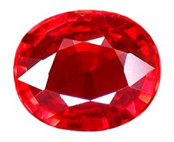 SOLD ? 1.02 ct. Ruby, Intense Rich Red, IF-VVS1 Oval faceted Gemstone