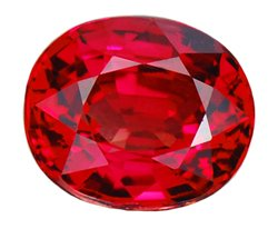 SOLD 1.21 ct. Ruby, Rich Purplish Red, VVS1 Oval Faceted Gemstone