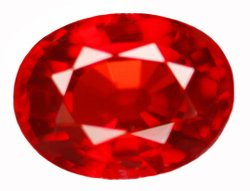 0.98 ct. Ruby, Pigeon Blood Red, IF-VVS1 Oval Faceted Gem Songea