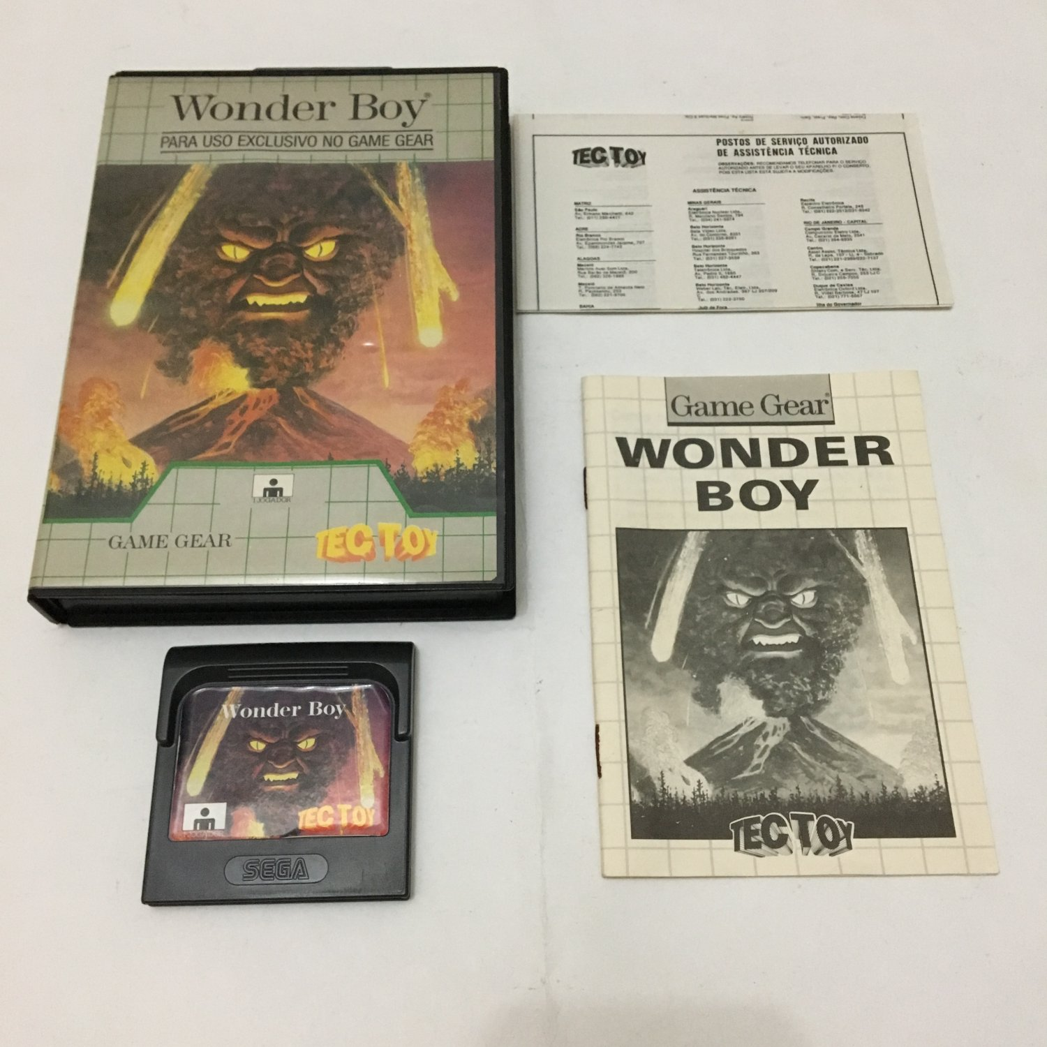 Wonder Boy Sega Tectoy Game Gear Complete In box