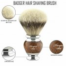 Stunning Silver tip Badger Shaving Brush Hand-Crafted Wood Handle