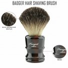 Men's Shaving Brush Pure Black Badger Hair Barber Wet Shaver Travel or Home Tool