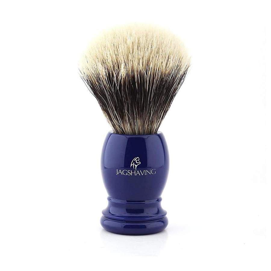 Silver Tip Badger Hair Shaving Brush With Blue Resin Handle