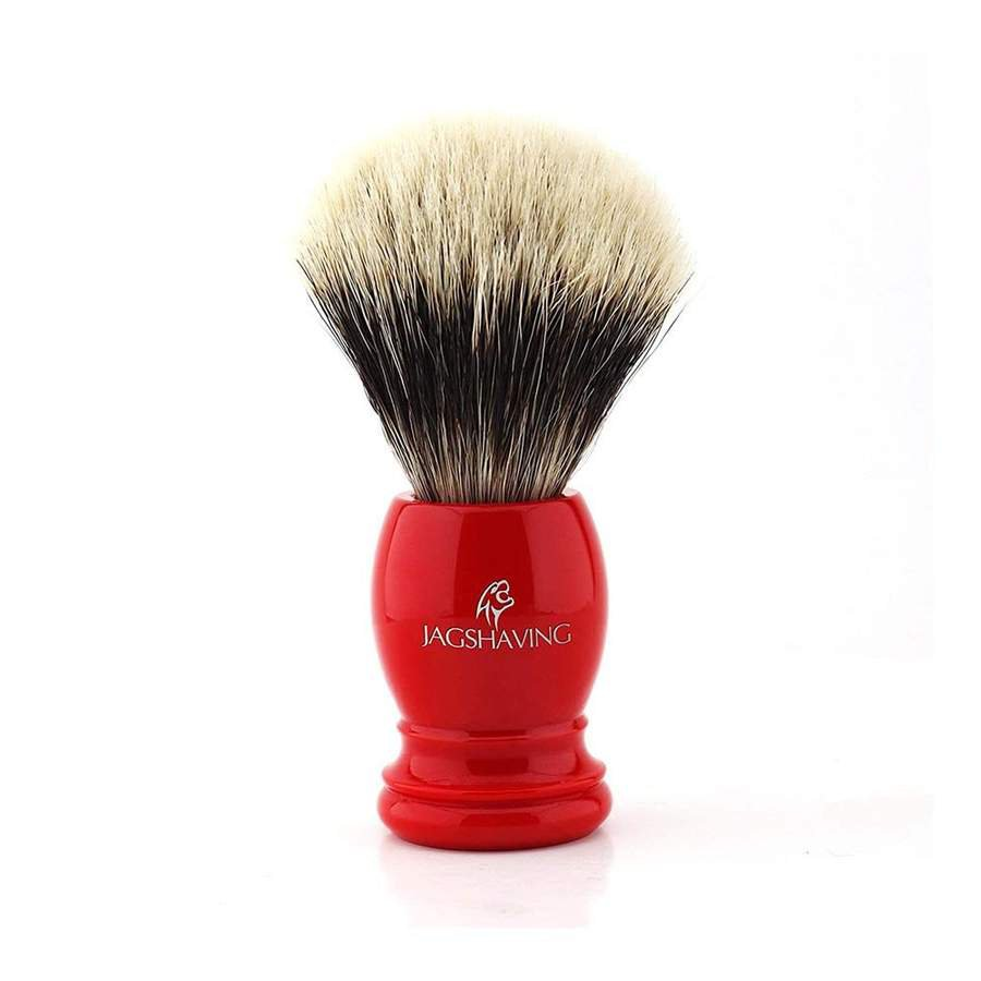 Classics Silver Tip Badger Hair Shaving Brush With Red Resin Handle
