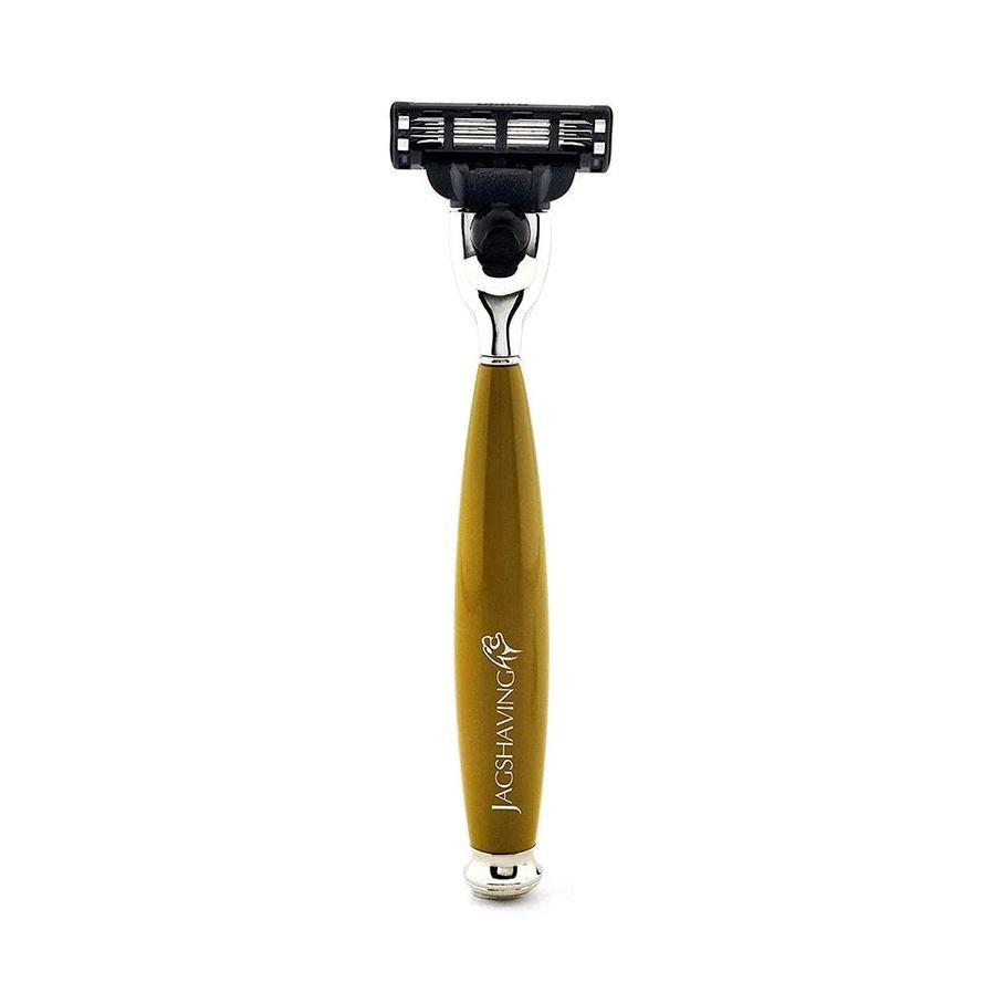Luxury Quality Mach 3 Compatible Shaving Razor With Brass Handle