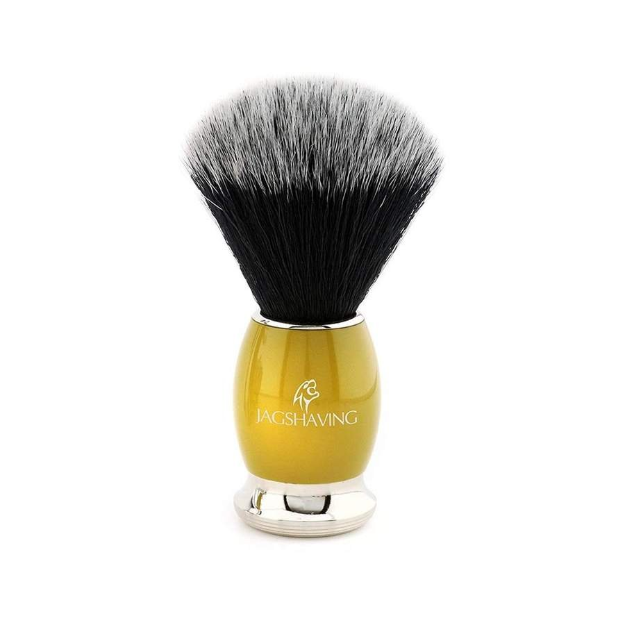 Luxury Black Synthetic Hair Shaving Brush with Brass Handle