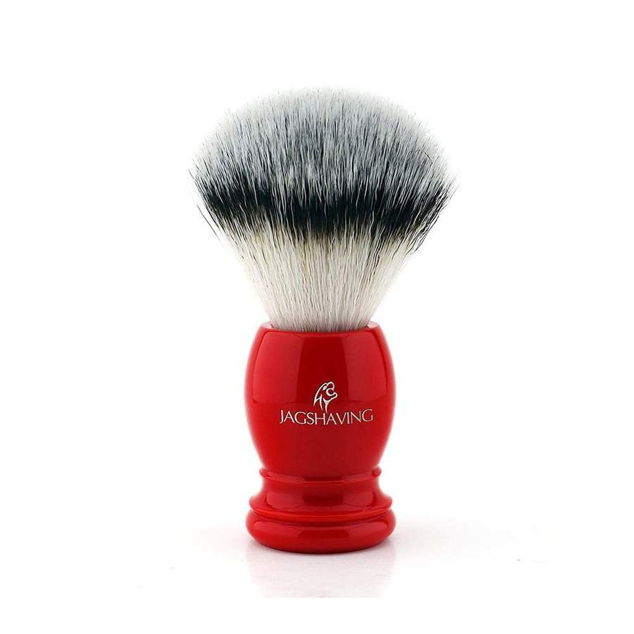 Synthetic Hair Shaving Brush with Red Resin Handle, Perfect Gift for Men