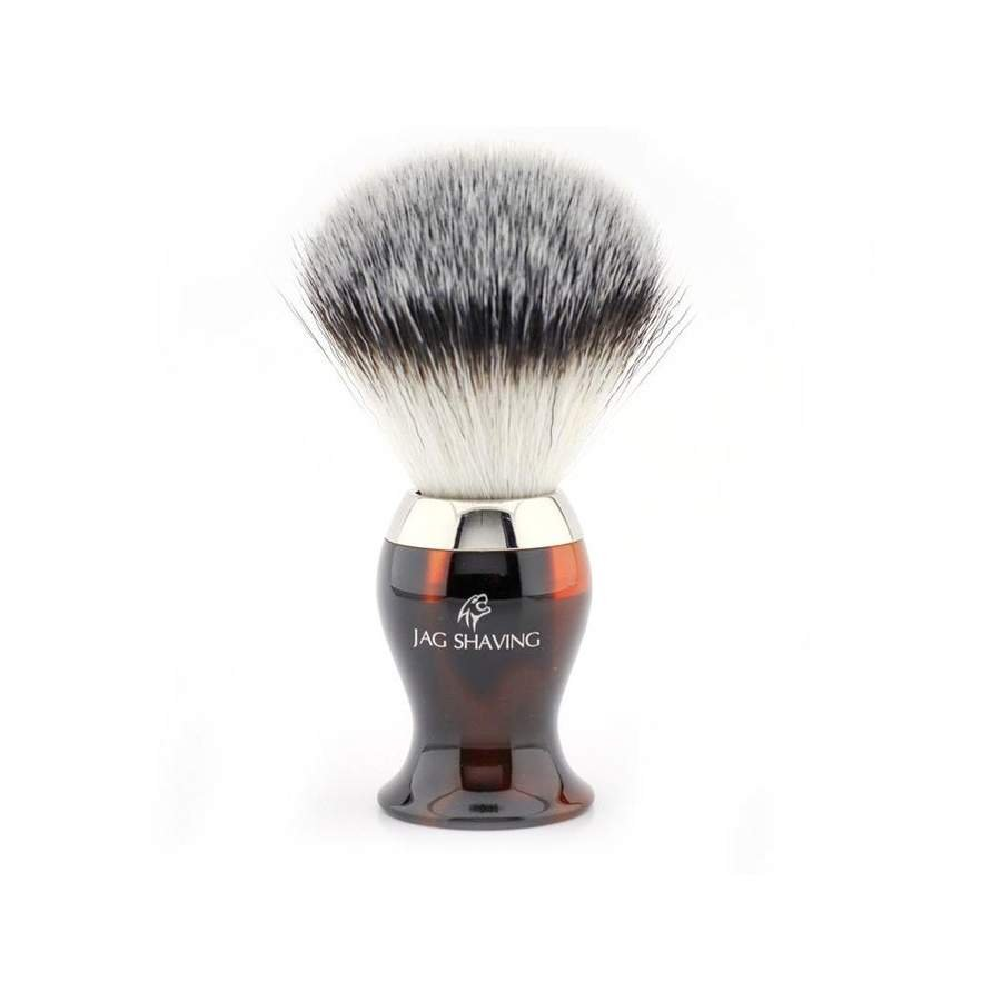 Hand Made Synthetic Hair Shaving Brush with Brass Handle