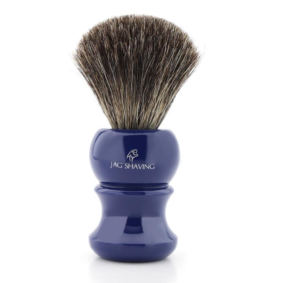 Super Badger Hair Shaving Brush with Blue Resin Handle Best Gift