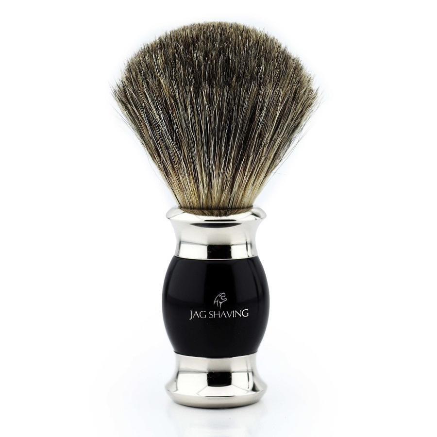 Super Badger Hair Shaving Brush with Black Resin Handle