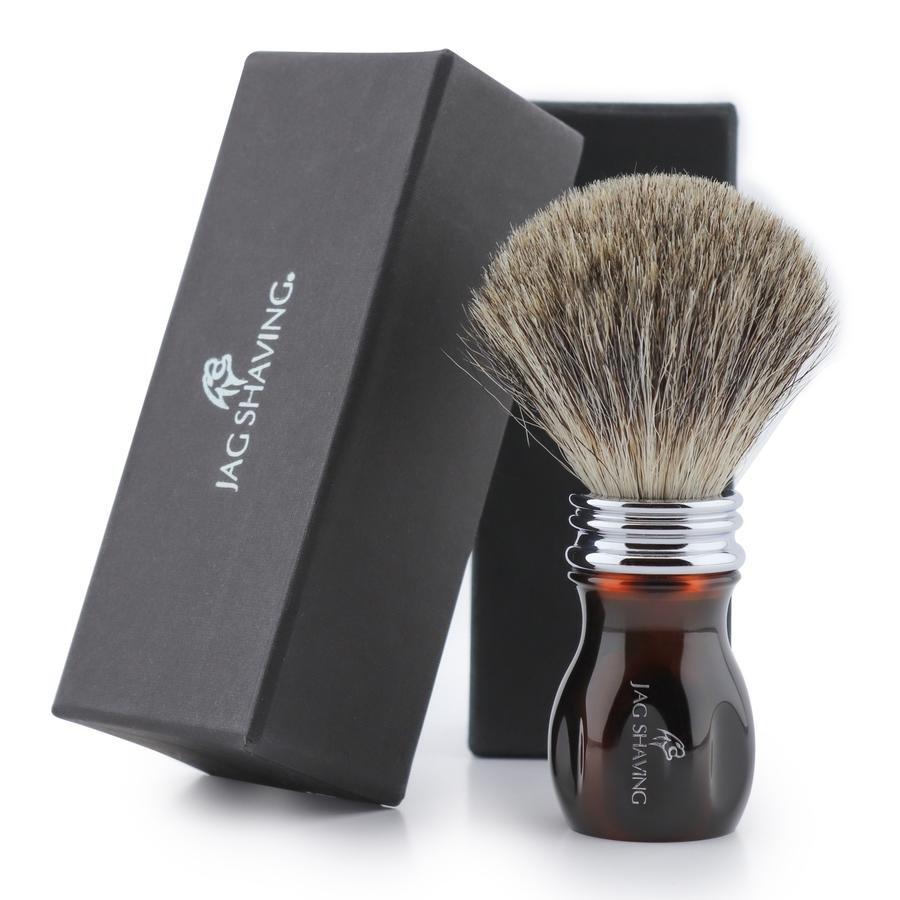 Super Badger Hair Shaving Brush with Resin Handle Vegan Cruelty Free Bristles
