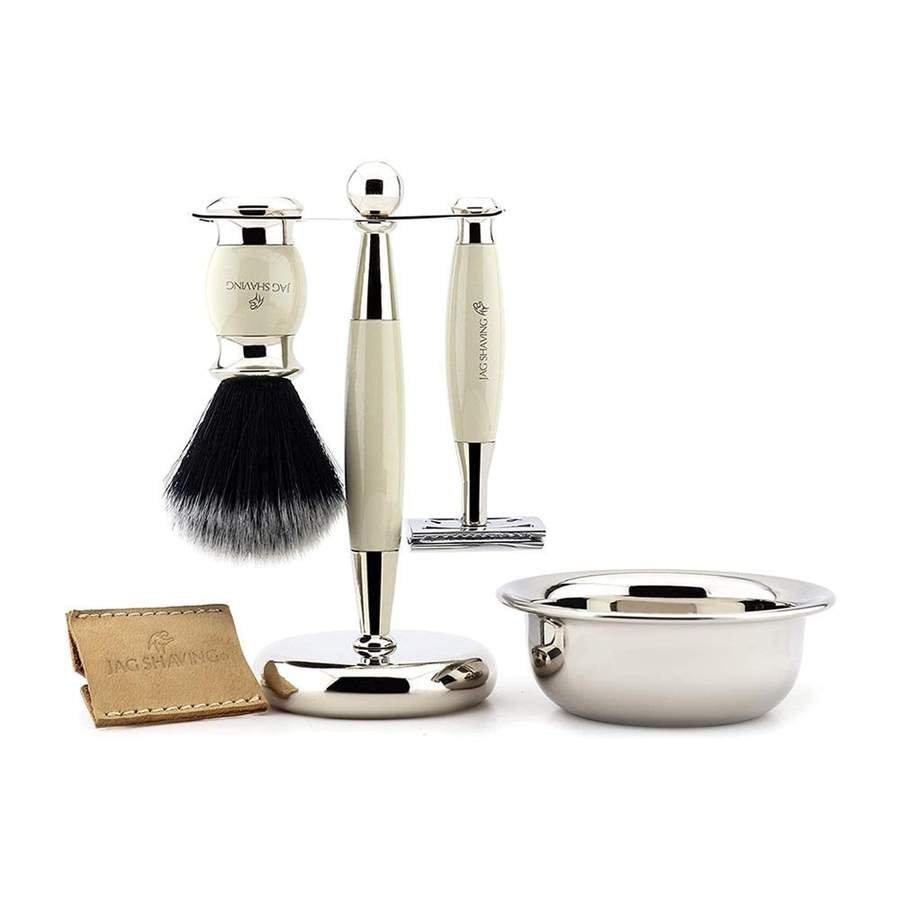 Luxury Double Edge Safety Razor Shaving Kit with Brass Handle