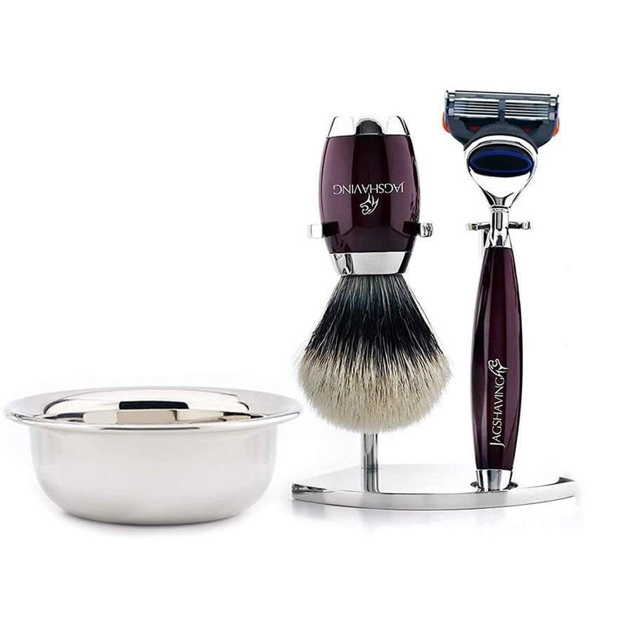 Prefect Shaving Kit with 5 Edge Cartridge Razor & Silver Tip Hair Brush